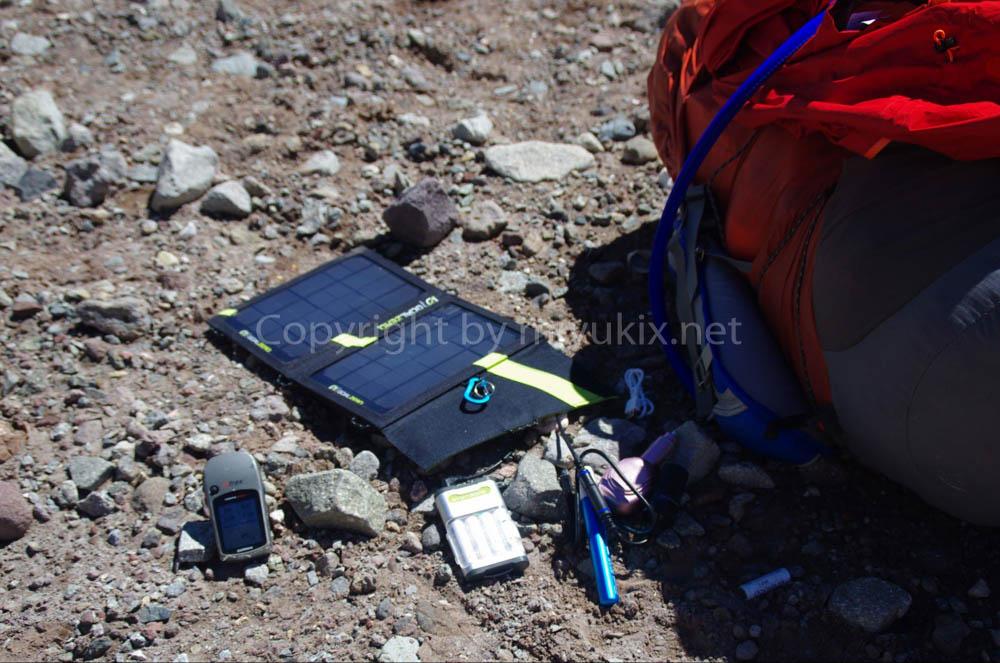 アコンカグア登山:ソーラーパネルGOAL ZEROとGPS ガーミンE-trex vista HCX