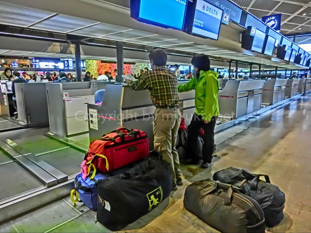 アコンカグア登山:成田空港チェックイン時
