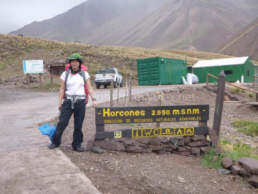 アコンカグア登山 ホンコース(2950m)Horcones