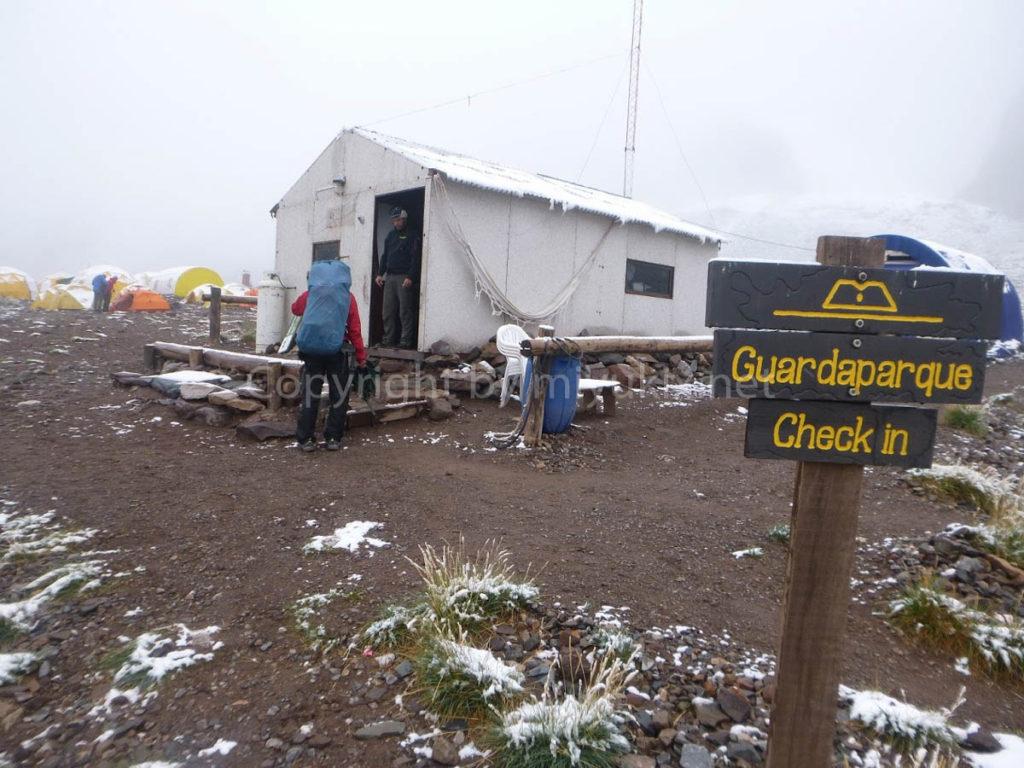コンフルエンシア(3300m) Confluencia アコンカグア登山1日目