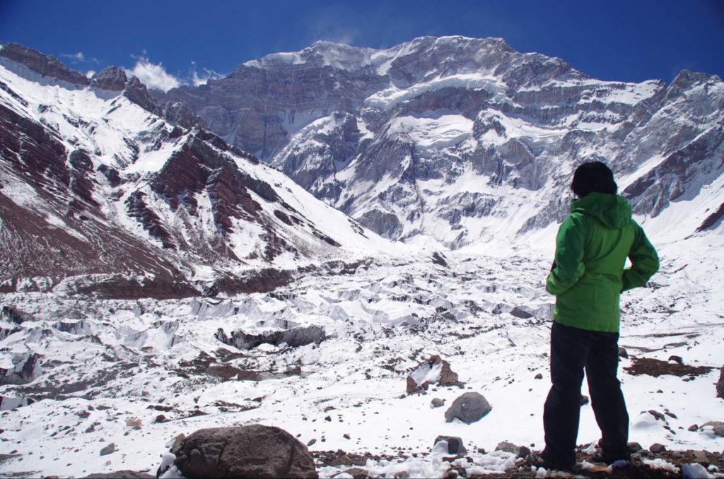 アコンカグア登山2日目 アコンカグア南壁 到着 Aconcagua south face