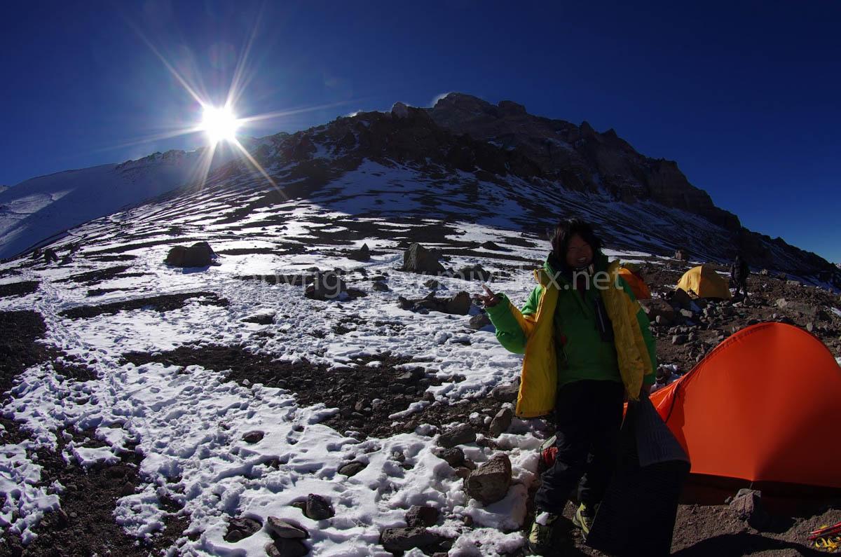 アコンカグア登山4日目 C1アラスカ(4900m)の朝 Alaska Aconcagua Expedition