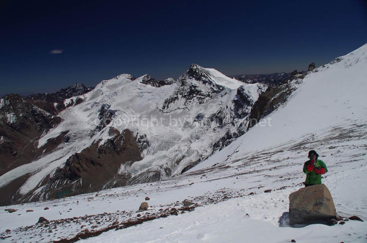 アコンカグア登山6日目 休憩中 Aconcagua Expedition