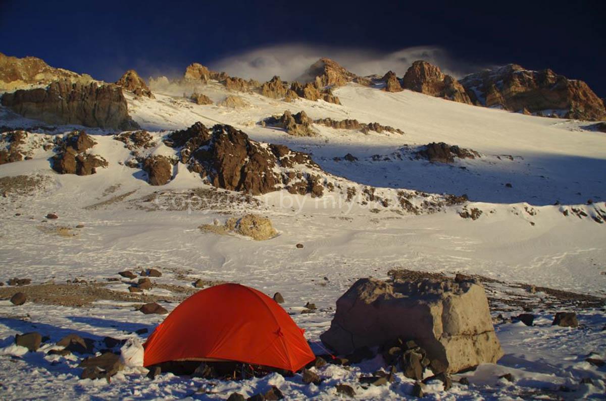 アコンカグア登山6日目 C2 ニド・デ・コンドレス(5365m)Nido de Condores