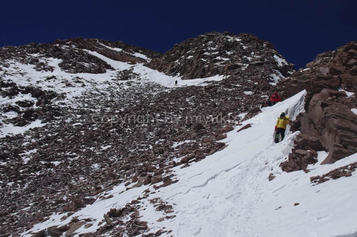下山 グランカナレーターを下る アコンカグア登山8日目・アタック日 Aconcagua Expedition