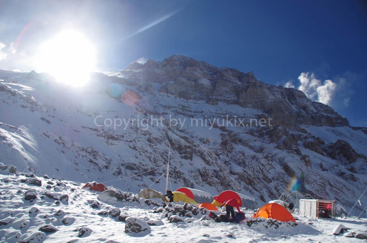 BCの朝 アコンカグア登山10日目 Aconcagua Expedition