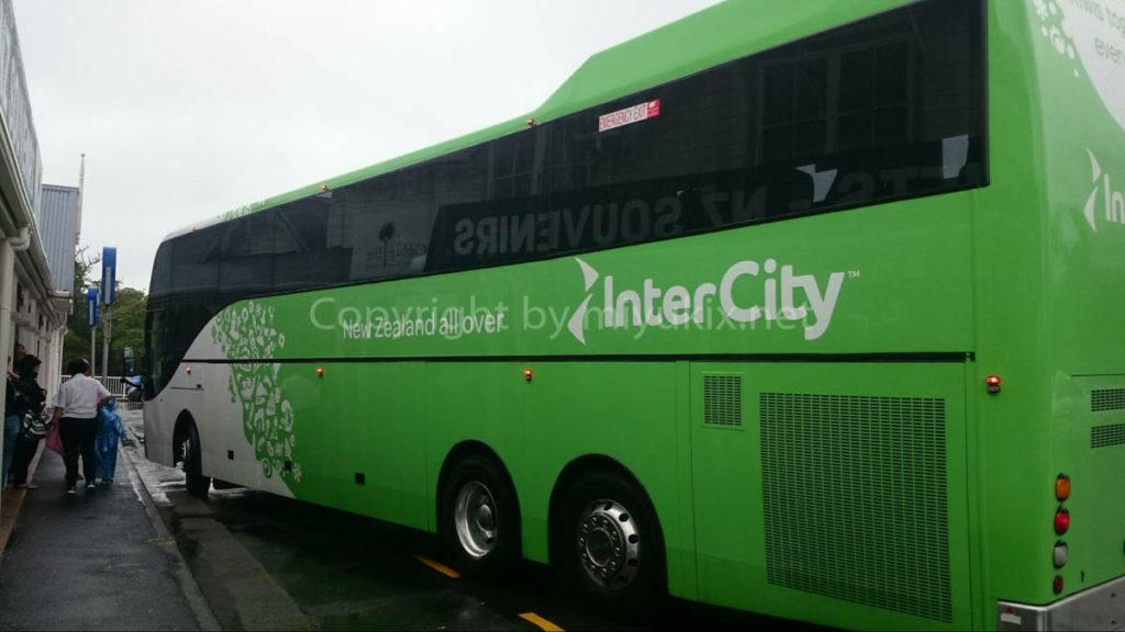 ニュージーランドで主要の交通機関になる長距離バス・インターシティ