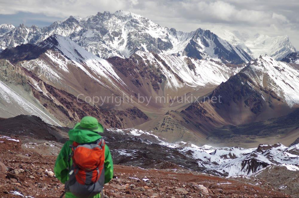 アコンカグア登山の景色