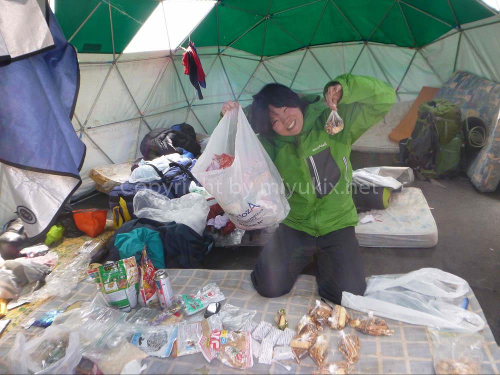 アコンカグア登山:上部キャンプ食+行動食をパッキング