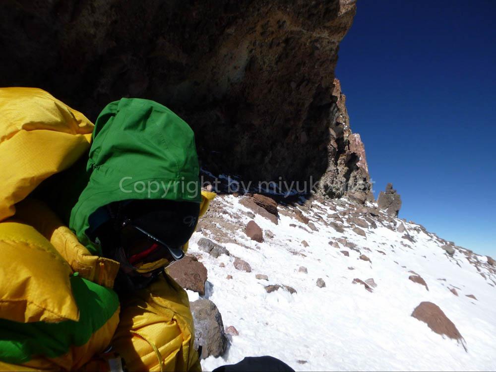 アコンカグア登山:グランカナレーター付近