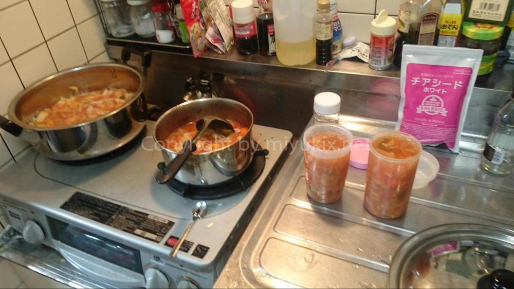 脂肪燃焼スープダイエットを大量に作る!
