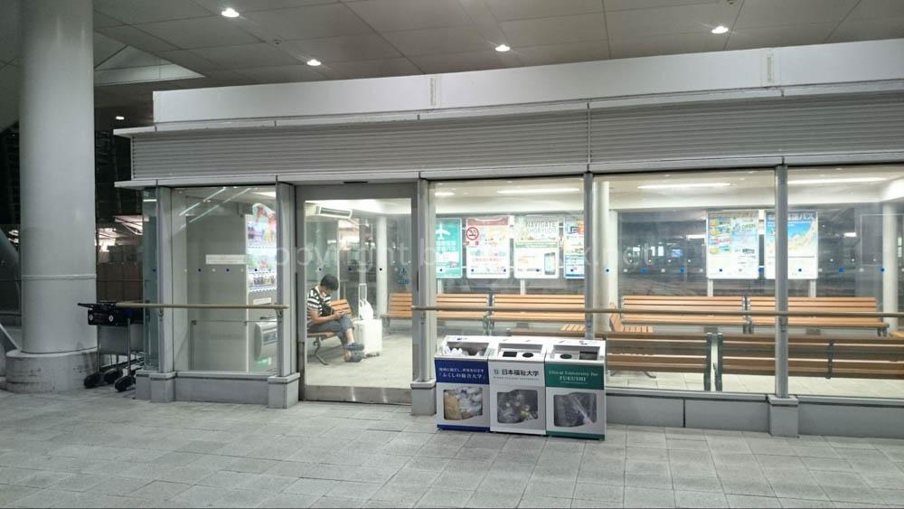 深夜のセントレア(中部国際空港)唯一の脱出方法 名古屋駅行のバス待合室
