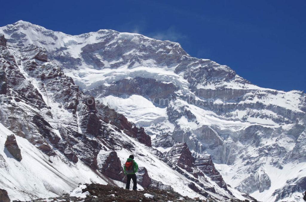 アコンカグア登山2日目 アコンカグア南壁 Aconcagua south face