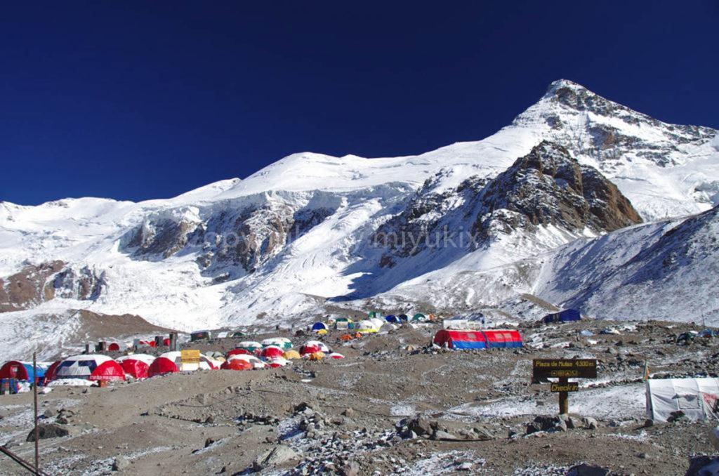 アコンカグア登山3日目 ベースキャンプ プラザ・デ・ムーラス 4300m到着! Aconcagua BC Plaza de Mulas
