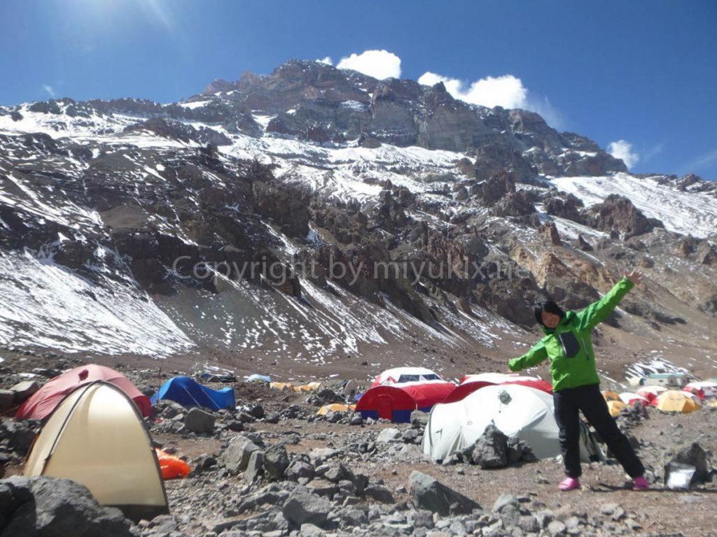 アコンカグア登山4日目 上部キャンプへの準備 Aconcagua BC Plaza de Mulas Aconcagua Expedition