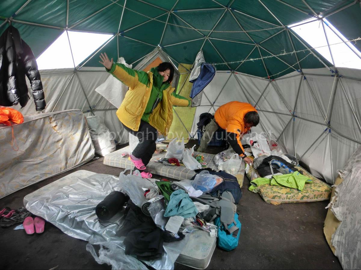 アコンカグア登山4日目 上部キャンプへの準備 登山中は娯楽がない…。 Aconcagua Expedition