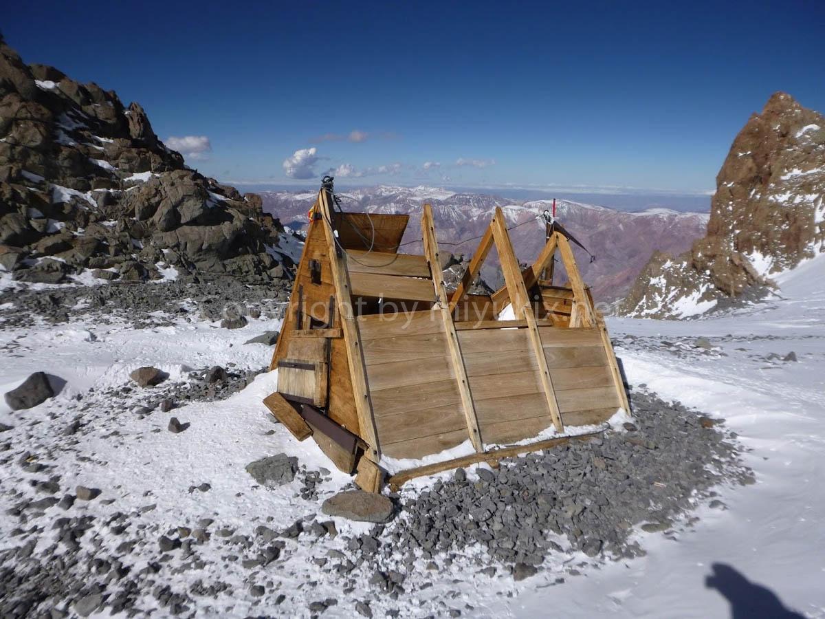 アコンカグア登山8日目・アタック日 インデペンデンシア小屋 Independencia hut Day of Attack Aconcagua Expedition