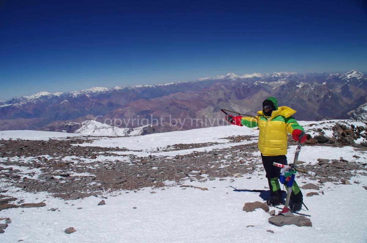 アコンカグアの頂上にて Summit Aconcagua Expedition
