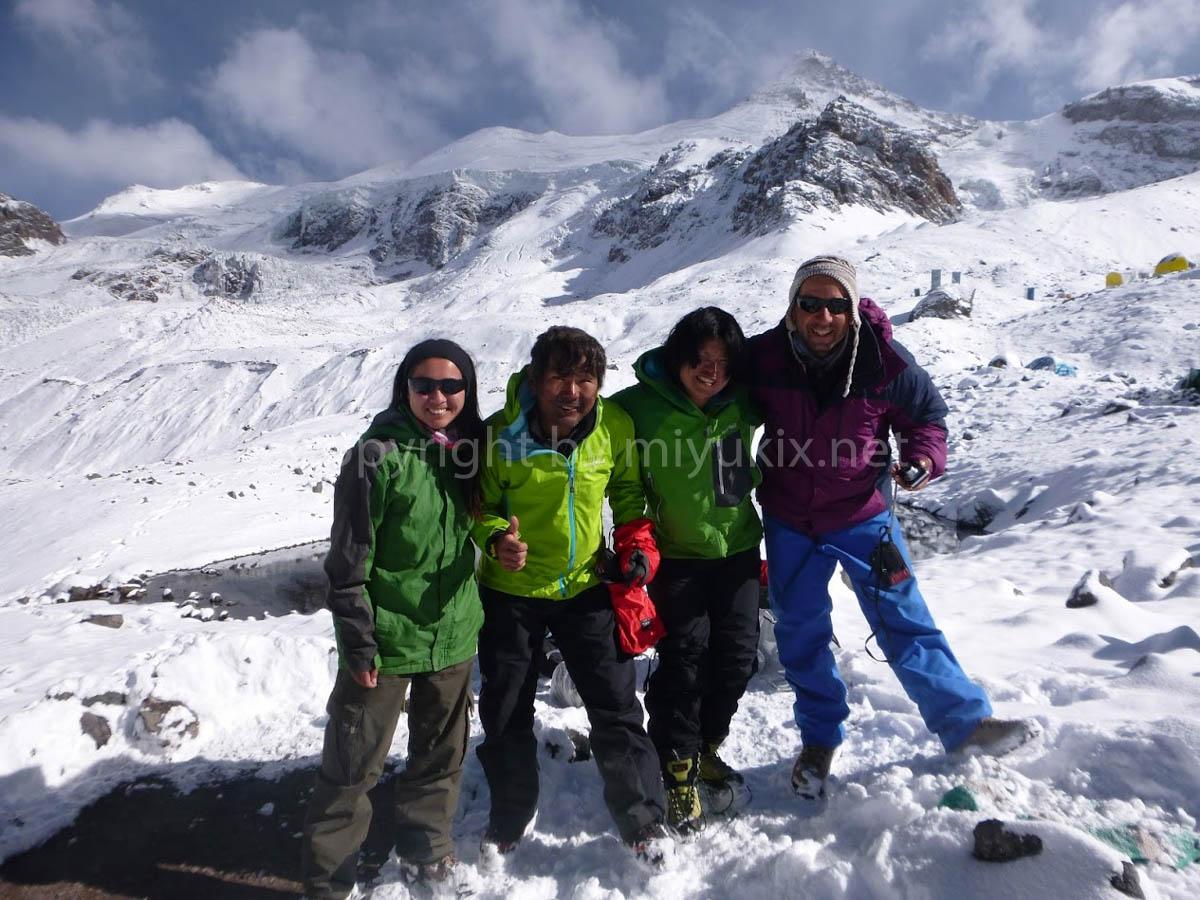 登頂後の記念撮影 Aconcagua Expedition