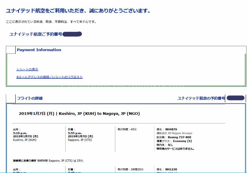 ユナイテッドの特典航空券で発券したANA日本国内線の手荷物は有料なのか?